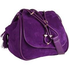 Salvatore Ferragamo Hanny purple eggplant bag