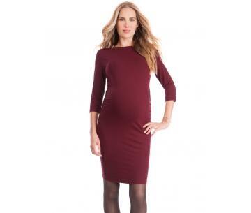 Bordeaux rood zwangerschapsjurkje