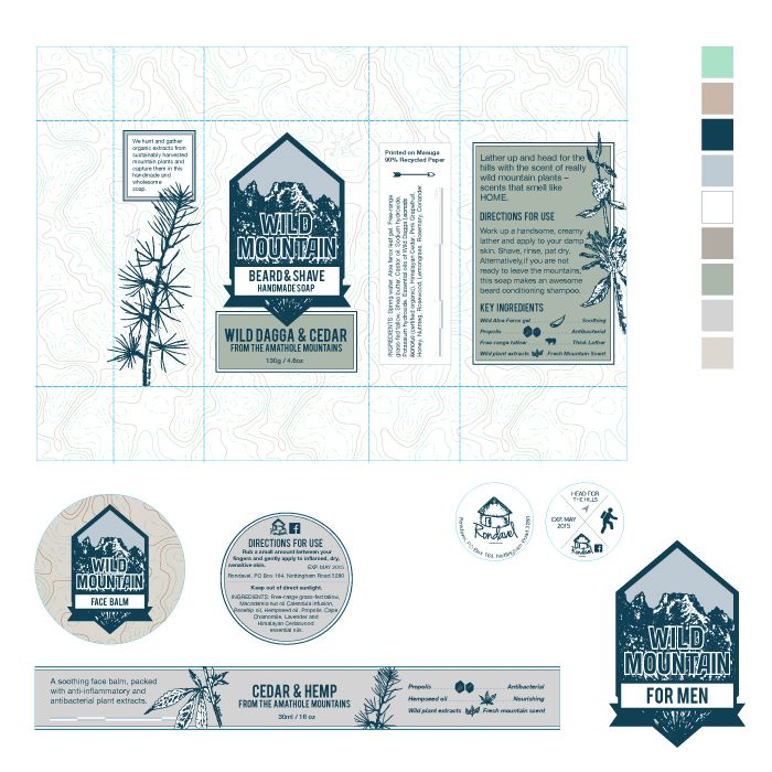 Andrea Barras - Wild Mountain Packaging for Rondavel.