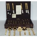43 Pc Yamazaki Byzantine Gold Accent Stainless Includes Service Pcs, W/ Chest. $255.00