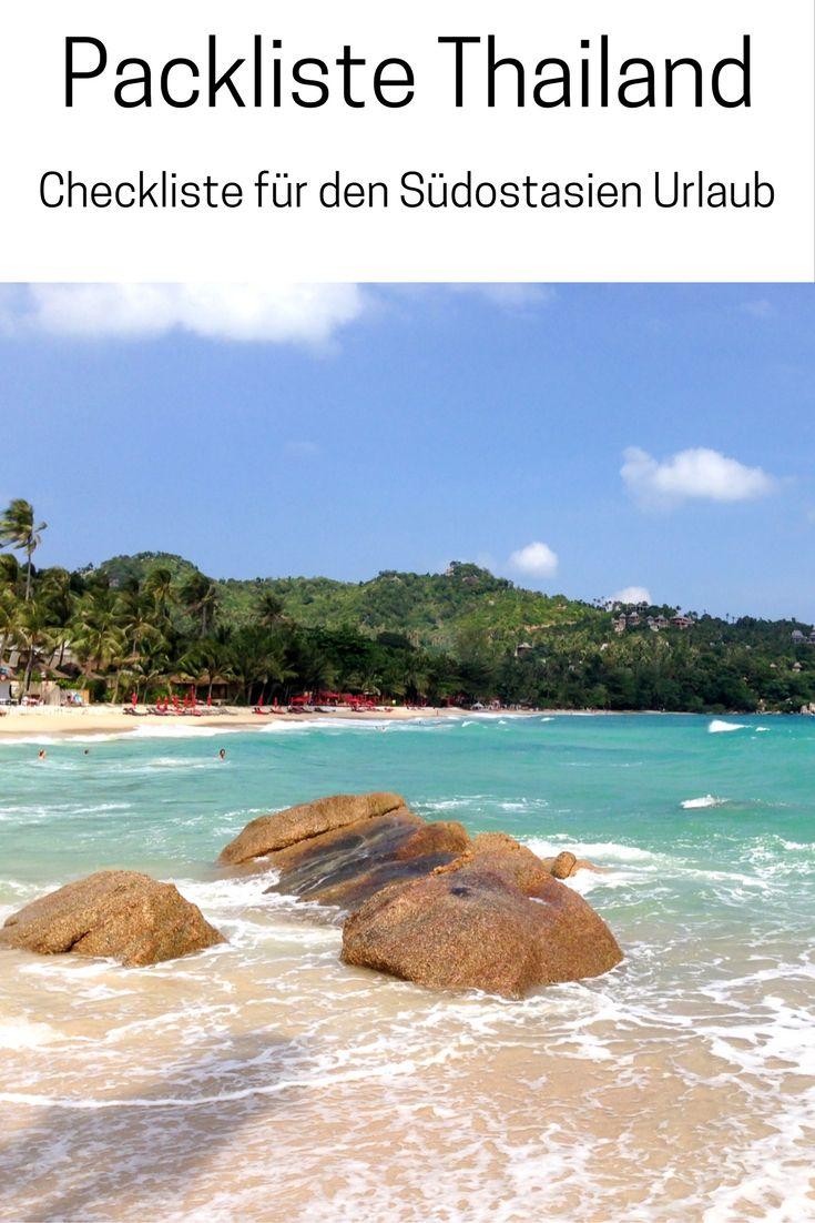 Packliste Thailand: Checkliste für deinen Südostasien Urlaub - das PDF zum Ausdrucken findest du auf meinem Reiseblog.