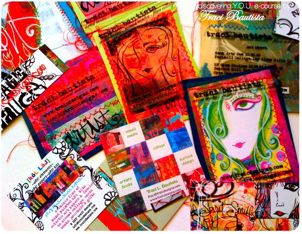 creative Y.O.U. package~ handmade business cards by treiCdesigns, via Flickr