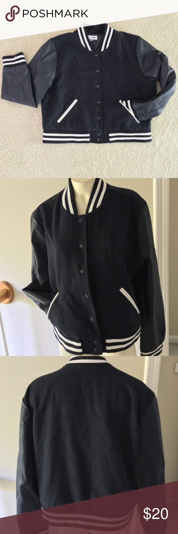 Selling this Varsity Letterman Jacket🍂 on Poshmark! My username is: thisbrightstar. #shopmycloset #poshmark #fashion #shopping #style #forsale #Old Navy #Jackets & Blazers