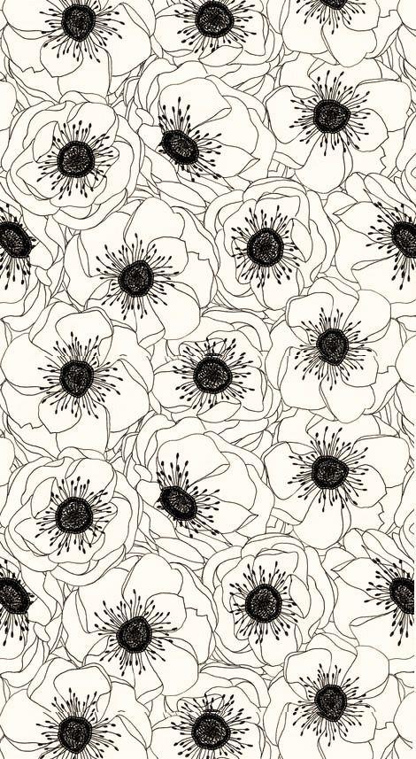 Des fleurs et des murs | http://blog.shanegraphique.com/graphismemotif-floral/