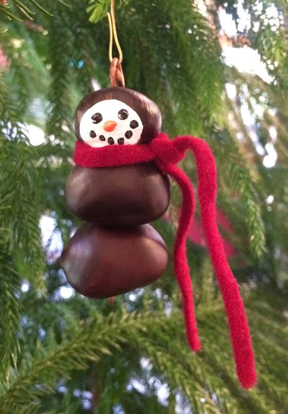Buckeye+Snowman+ornament+by+BeachNutStudio+on+Etsy
