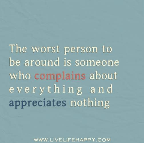 The worst person...