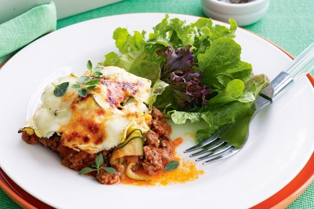 Tender layers of zucchini replace pasta in this Greek-style lasagne.