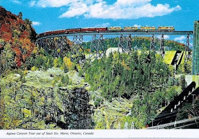 """""""TRESTLE AND DAM ON THE MONTREAL RIVER"""": AGAWA CANYON, ONTARIO"""