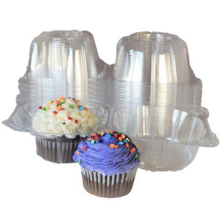 Individual Plastic Cupcake Boxes,100pcs Single Clear Plastic Cupcake Muffin Box Mini Cat Head Cupcake Container