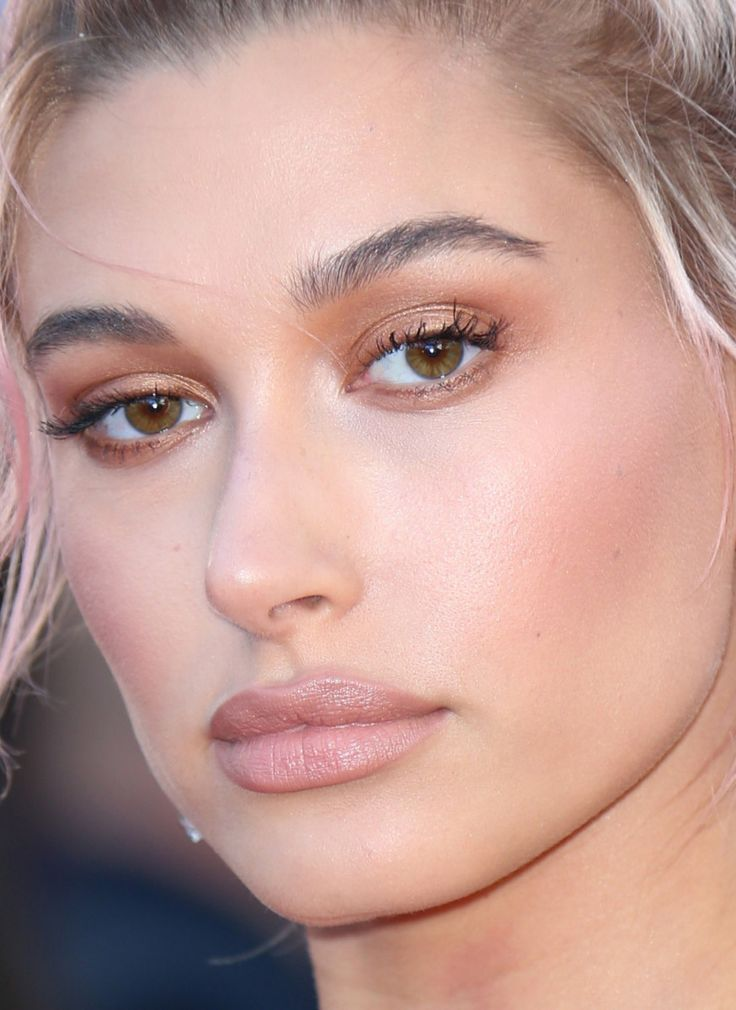 Close-up of Hailey Baldwin at the 2018 Cannes premiere of 'Girls of the Sun….