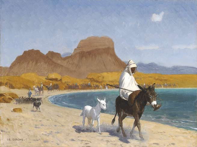 Le sable, symbole de l'inconscient - ©Jean-Léon Gérôme - 1824-1904