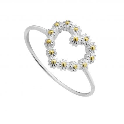 Daisy of London Silver & Gold Ring