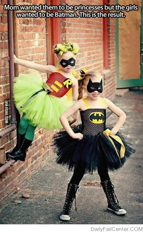 Justice princesses - except in our case, mom wants them to be superheroes and the kids want to princesses.  Compromise.