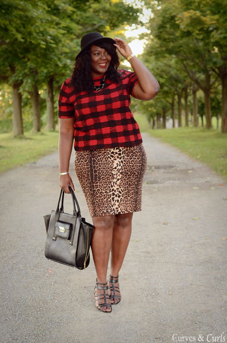 My Curves & Curls™ | A Canadian Plus Size Fashion blog: Plaid and Leopard