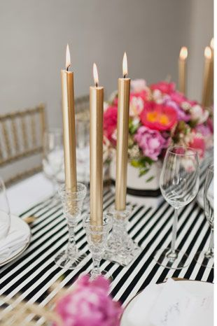 gold taper candles, Photography by White Tea
