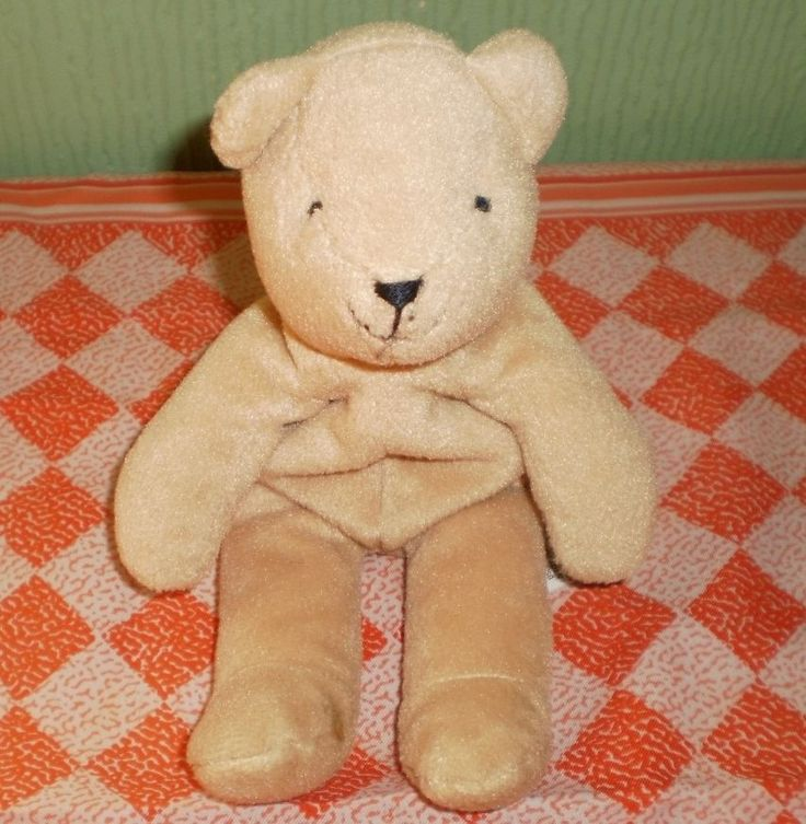 Marks and Spencers Beige Bean Bag Soft Toy Teddy Bear Plush