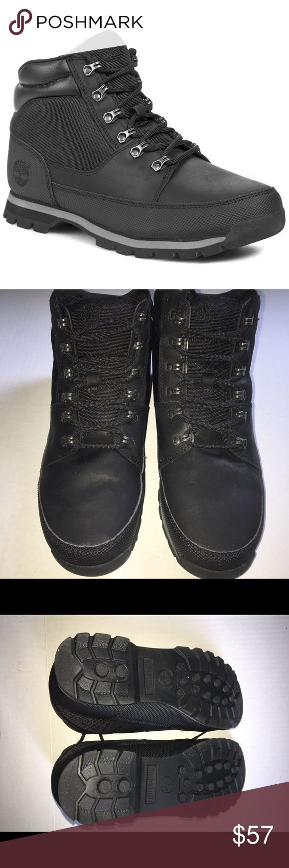 Timberland Euro Sprint Hiker Boots Timberland Men's Black Boots. Style: Euro Sprint Condition is like new. Description: Solid black model from Timberland. The upper part is produced from genuine leather - full grain leather, fabric. Shop with confidence 🌟 5 STAR ratings Most items SHIP NEXT DAY.                                           Use the BUNDLE feature for discount. Timberland Shoes Boots