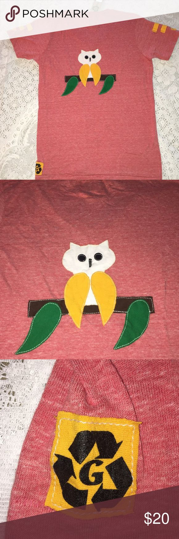 NWT Chi Omega Owl print red V neck boyfriend tee NWT Chi Omega boyfriend soft Washed red v neck tee shirt. Size AM. 50% polyester 38% cotton 12% rayon. Owl logo appliqué on back. Solid front. Relaxed, loose fit. Made in USA. $54 retail. Rare and one of a kind. #greek #life #college #university #chi #omega #sorority #pledge #red #big #little #sister #nwt #tee #owl  Never used. Smoke free home. Check closet for similar items & additional sororities. ❌no trades❌ FIRM Tops Tees - Short Sleeve