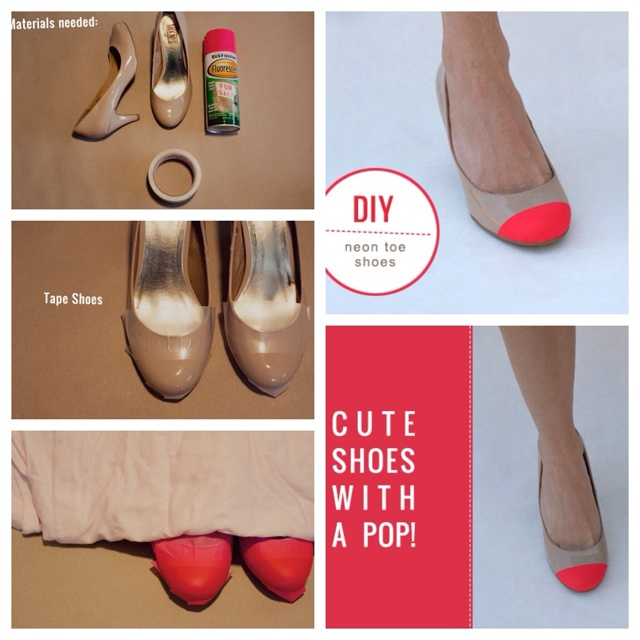 #diy neon shoes love this idea via greenweddingshoes.com