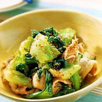 豚肉とチンゲンサイの和風ごまだれあえ | 葛西麗子さんのおつまみの料理レシピ | プロの簡単料理レシピはレタスクラブニュース