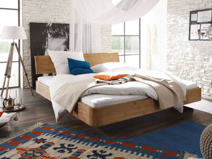 details zu bett holz akazie doppelbett ehebett 180x200. Black Bedroom Furniture Sets. Home Design Ideas