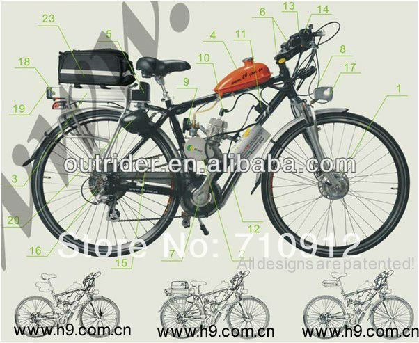 2 Stroke 49CC Gas Bicycle Engine Kit/Gasoline Engine For Bicycle
