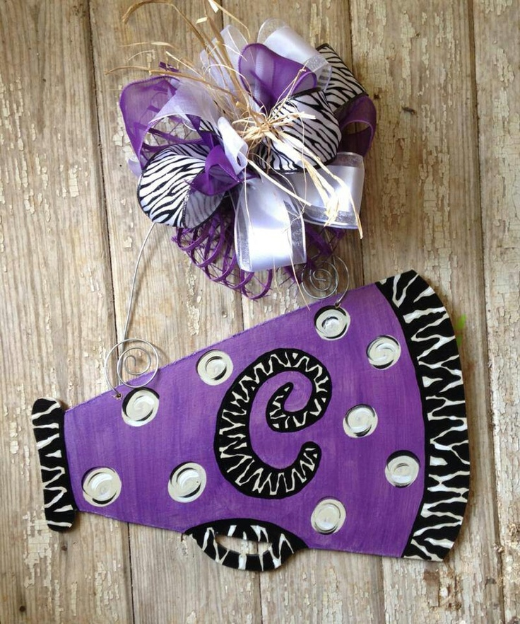 The 25 best cheer megaphone ideas on pinterest cute for Cheerleading decorations
