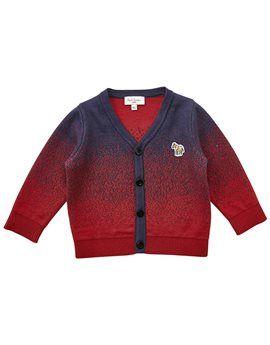PAUL SMITH JUNIOR Baby Boy Red and Blue Cardigan. Shop here: http://www.tilltwelve.com/en/eur/product/1084288/PAUL-SMITH-JUNIOR-Baby-Boy-Red-and-Blue-Cardigan/