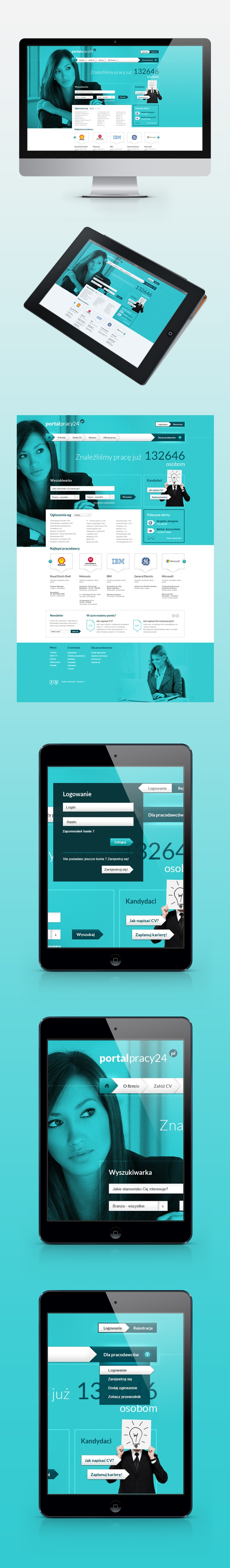 Portalpracy24.pl - Job Portal by Adam Rozmus, via Behance