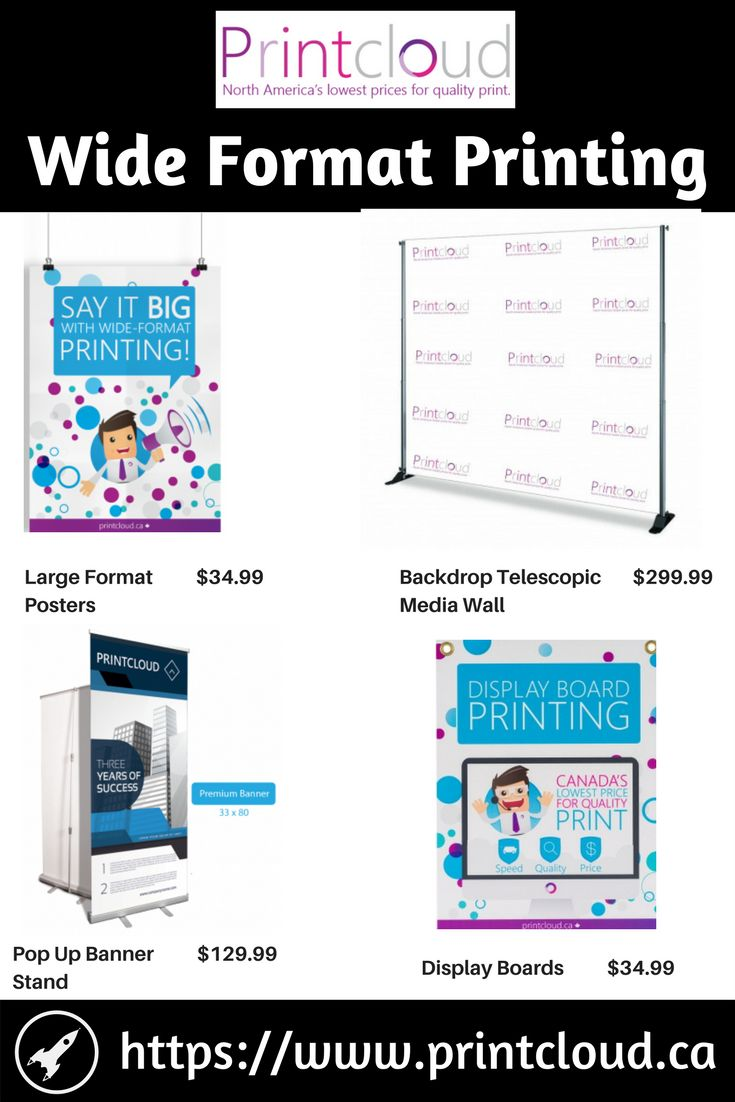 Printcloud offers large format printing / wide format printing option along with in-house graphic designers to help in bringing your vision to life.
