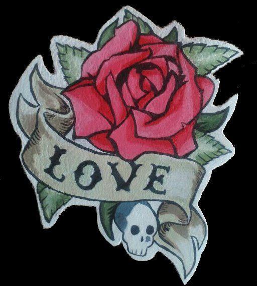 Leather patch Rose Love Tatto/ parche de cuero de OmahaBeach en Etsy