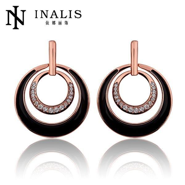 Aliexpress.com : 신뢰할수 있는 귀걸이 몸 보석 공급업체Direct Manufacturer Fashion Jewelry에서 E877 뜨거운 판매 파인 라운드 파티 귀걸이 골드 도금 스터드 귀걸이 웨딩 인도 여성 pendientes brincode을 구매합니다.