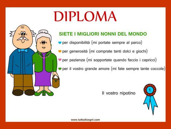 #Italian ~ grandparents diploma