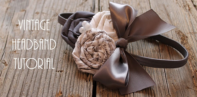 A friends Vintage Headband Tutorial... Her blog has tons of amazingly cute ideas and tutorials!!!