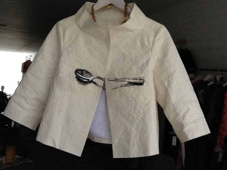 jacket on pinneaple paper painted by Juan Manuel Ramírez