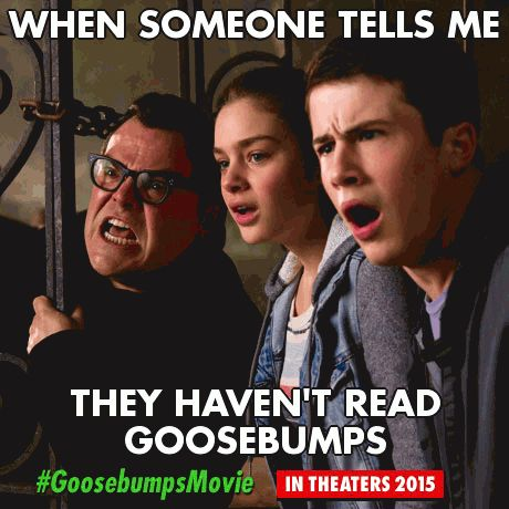 Win Goosebumps goodies, including props, books, and even a call with R.L. Stine, by making memes and creating fan art. #Goosebumpsmovie, in Theaters 2016