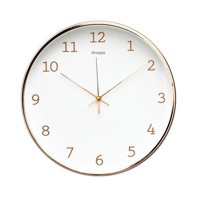 9 Amazon Home Pieces That Look Like Boutique Finds Hunker Wall Clock Rose Gold Frame Modern Clock
