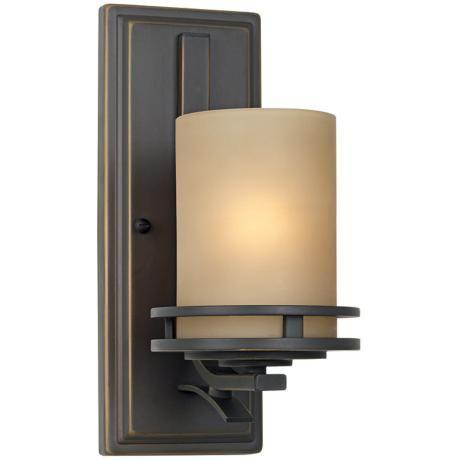 "Hendrik Bronze 12"" High Wall Sconce - #09218 | LampsPlus.com"