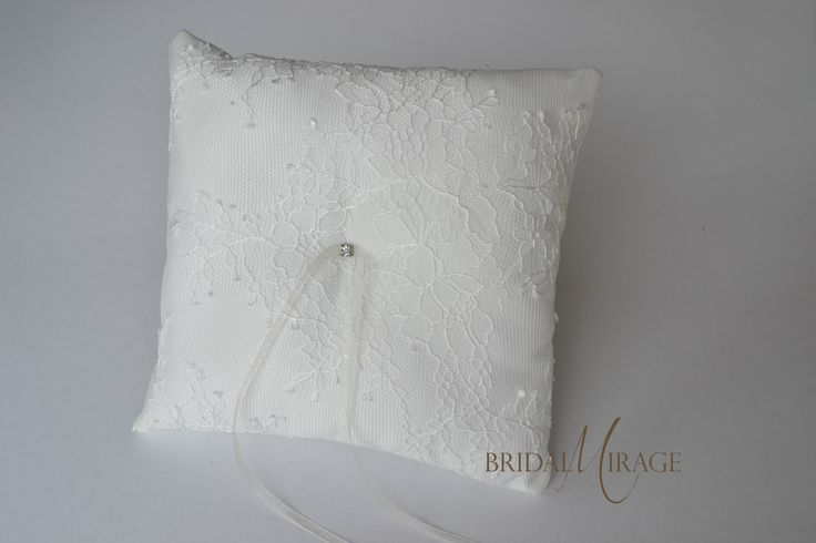 French lace ring pillow || Francia csipkés gyűrűpárna