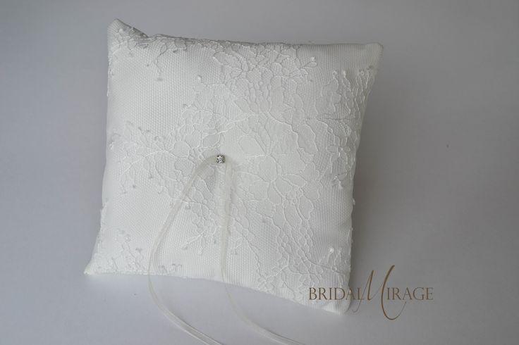 French lace ring pillow || Francia csipkés gyűrűpárna