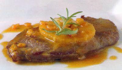 Escalopes de ternera a la naranja http://chefquality.blogspot.com.es/2014/02/escalopes-de-ternera-la-naranja.html