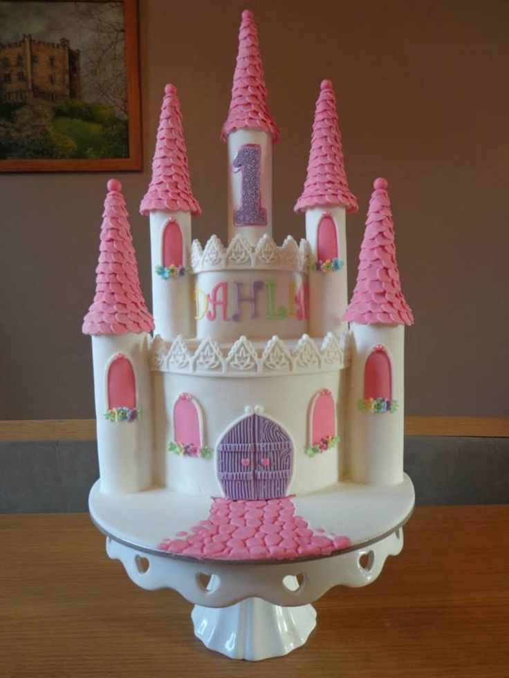 This cake was done for a friends little girl who...
