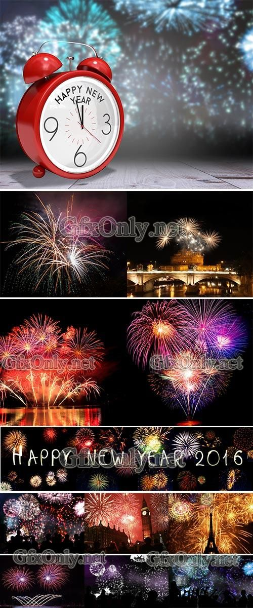 Stock Image Fireworks New Year's Eve