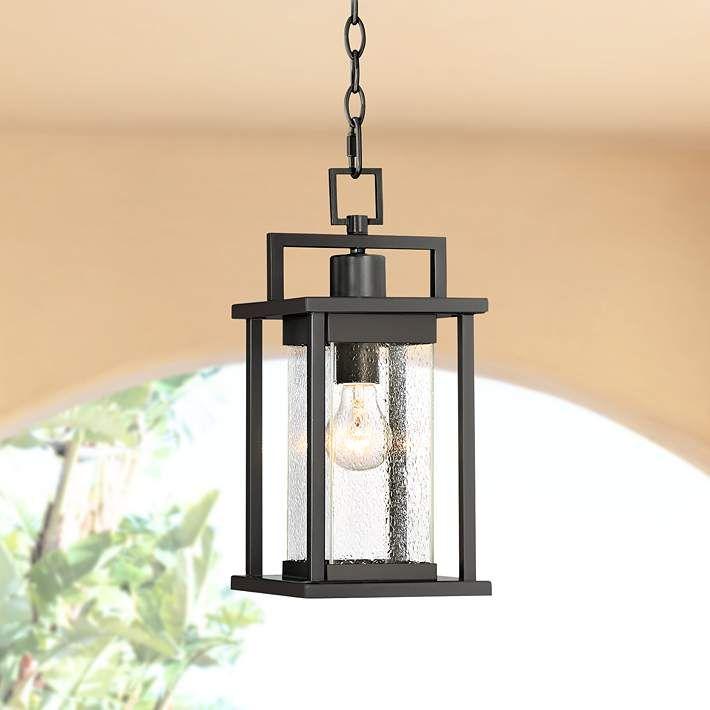 Wickham 15 High Dark Gray Framed Outdoor Hanging Light 33p69