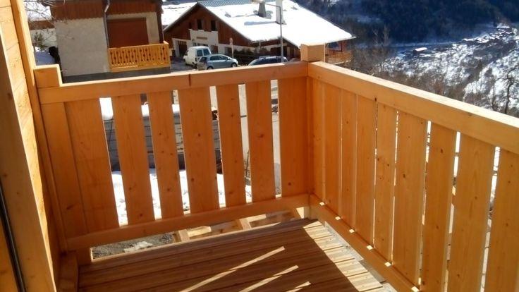 Garde corps bois palines balcon terrasse pinterest - Garde corps en kit pour terrasse ...