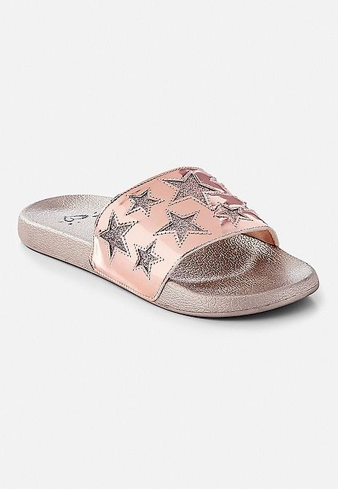 d6a74298ea98 Glitter Star Slide Sandals | Justice | Gift Ideas (2018-2019) in ...