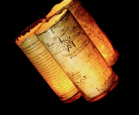 The Hobbit candle hoder Thorin's map  lord of by GenevieveJoyner, $12.50