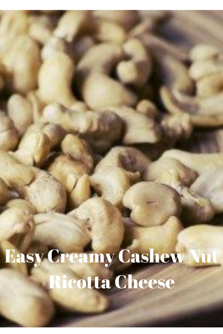 Cashew Nut Ricotta cheese. Repin this and Click to read and try!