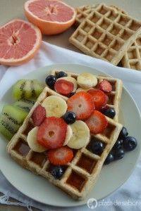 Waffles integrales (y mezcla para hot cakes integrales) www.pizcadesabor.com