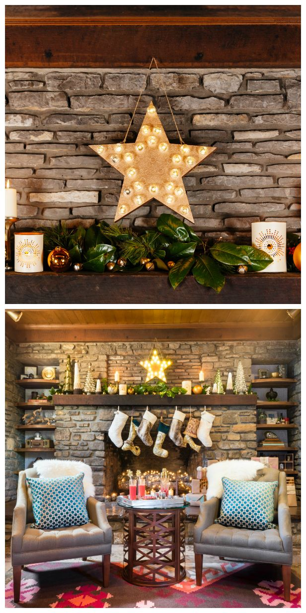 Skip pricey designer versions and make your own diy light for Design your own fireplace
